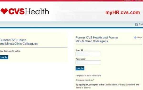 myhr cvs employee portal